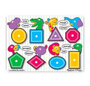 Melissa & Doug Shapes Peg Puzzle - 8 Pieces