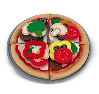 Melissa & Doug Felt Play Food - Pizza Set