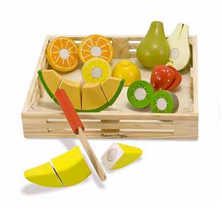 Melissa & Doug Cutting Fruit Set - Wooden Play Food