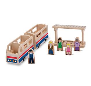 Melissa & Doug Whittle World Wooden Train Platform Set