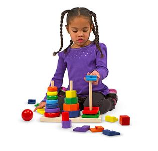 Melissa & DougGeometric Stacker Toddler Toy