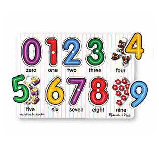 Melissa & DougSee-Inside Numbers Peg Puzzle - 10 pieces