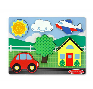 Melissa & DougChunky Puzzle Scene - Yellow House - 6 Pieces