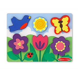 Melissa & DougChunky Puzzle Scene - Flower Garden Puzzle - 6 Pieces