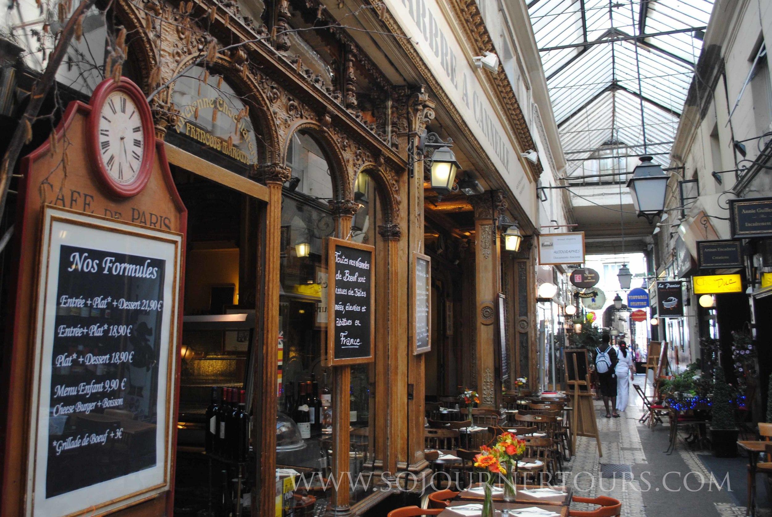 Covered Passage des Panoramas: Paris, France (Sojourner Tours)