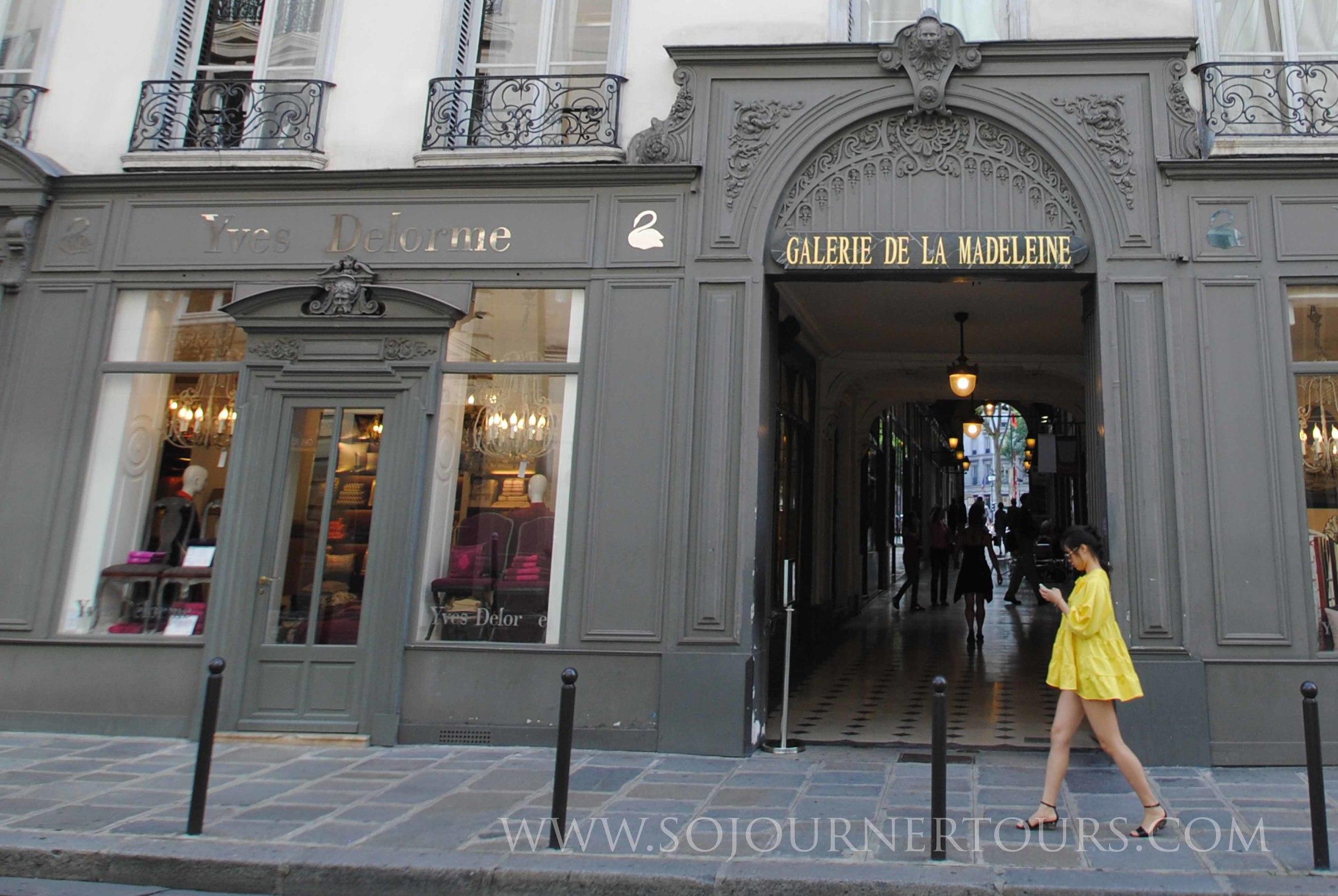 Covered Passage de la Madeleine: Paris, France (Sojourner Tours)