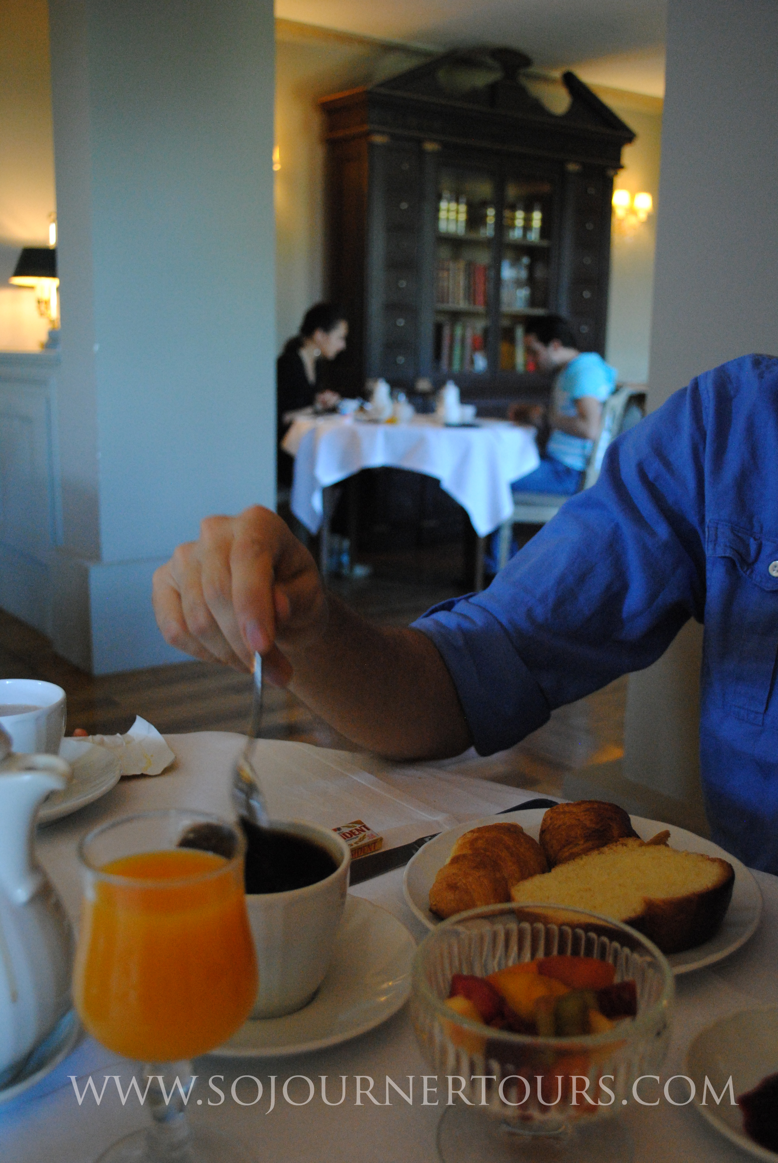 Breakfast includes fresh squeezed orange juice, locally baked breads, fruits, eggs, local meats & cheeses.