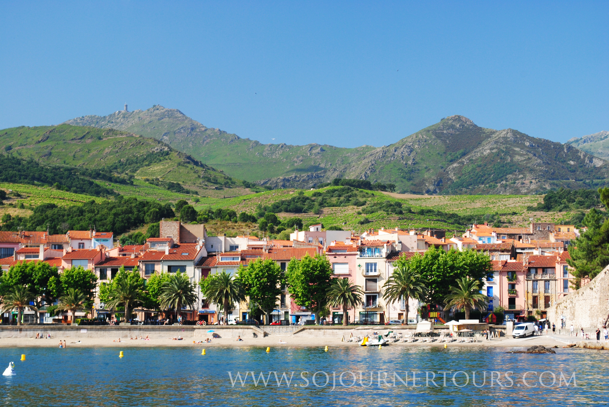 View of a residential section of Collioure.