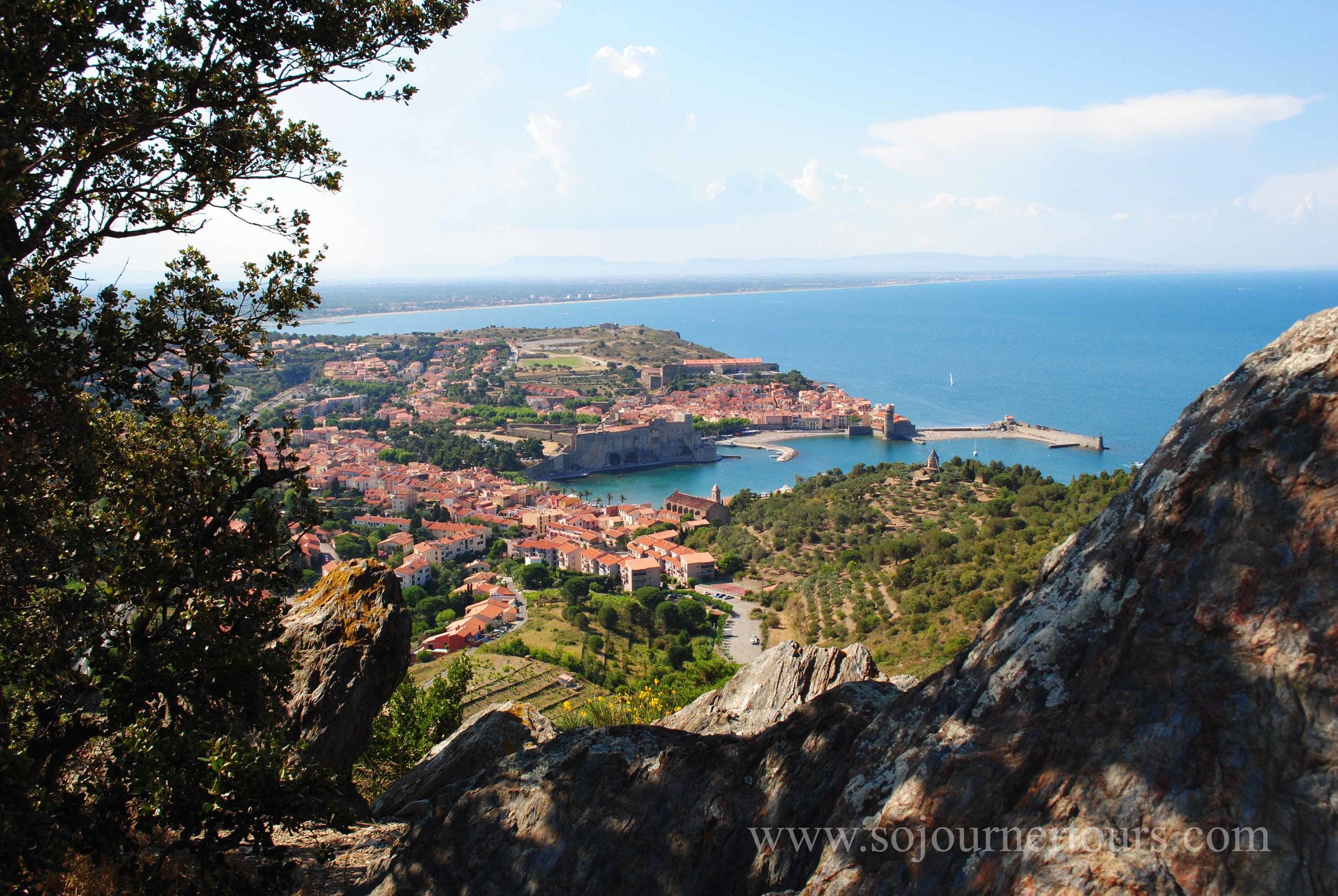 View of Collioure from Fort St. Elme