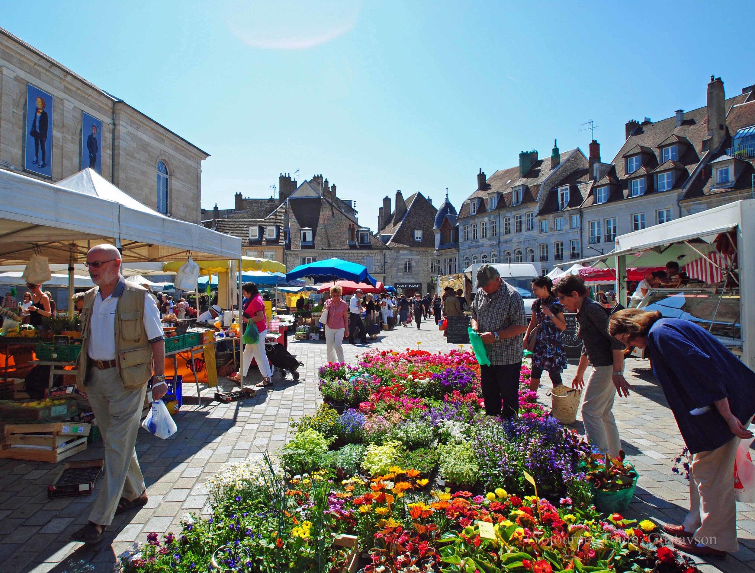 Open Air Market in Besancon