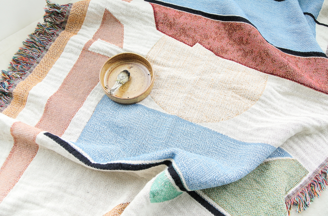 woven throws - see more