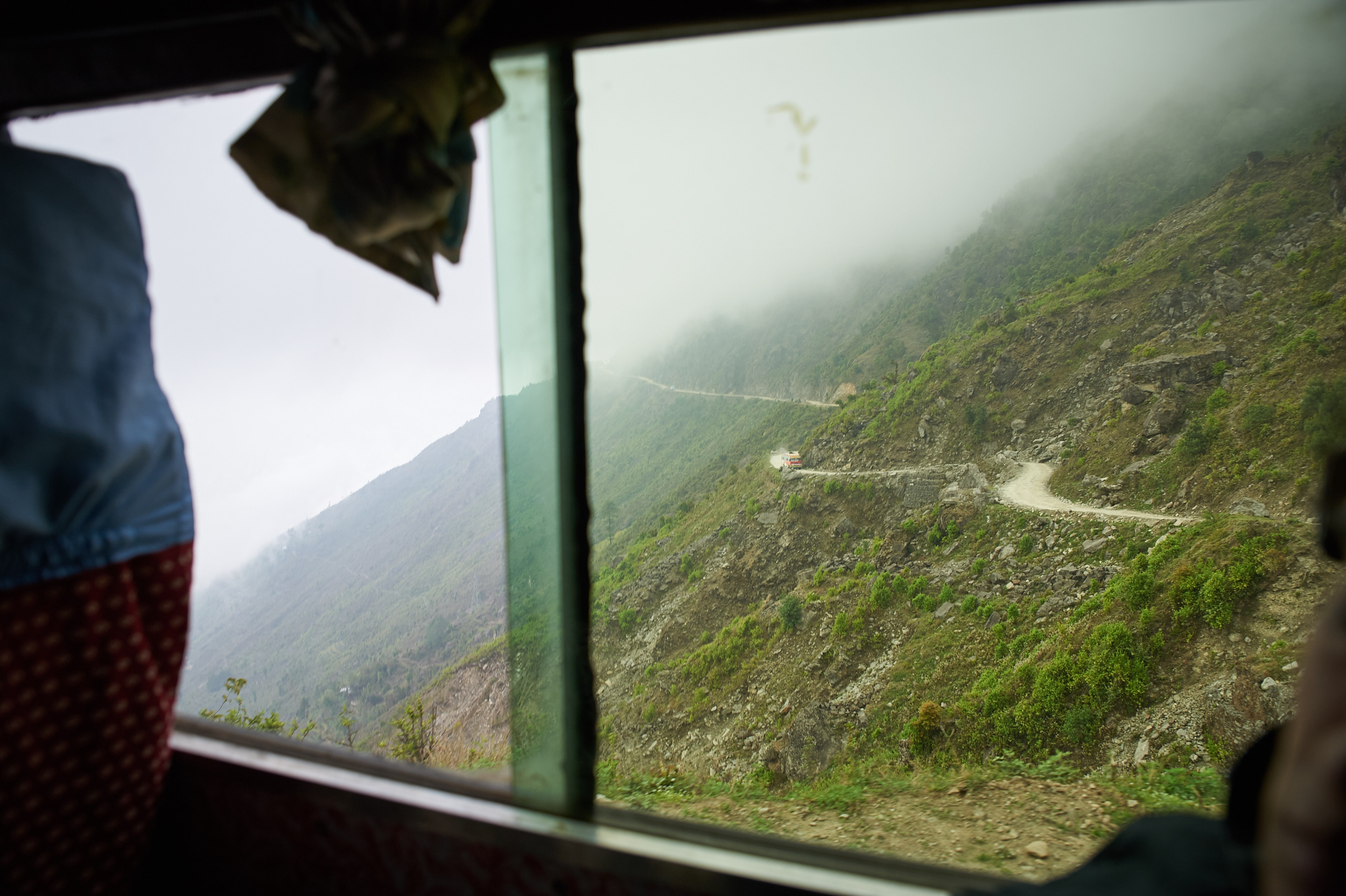 On the way to the Langtang trek