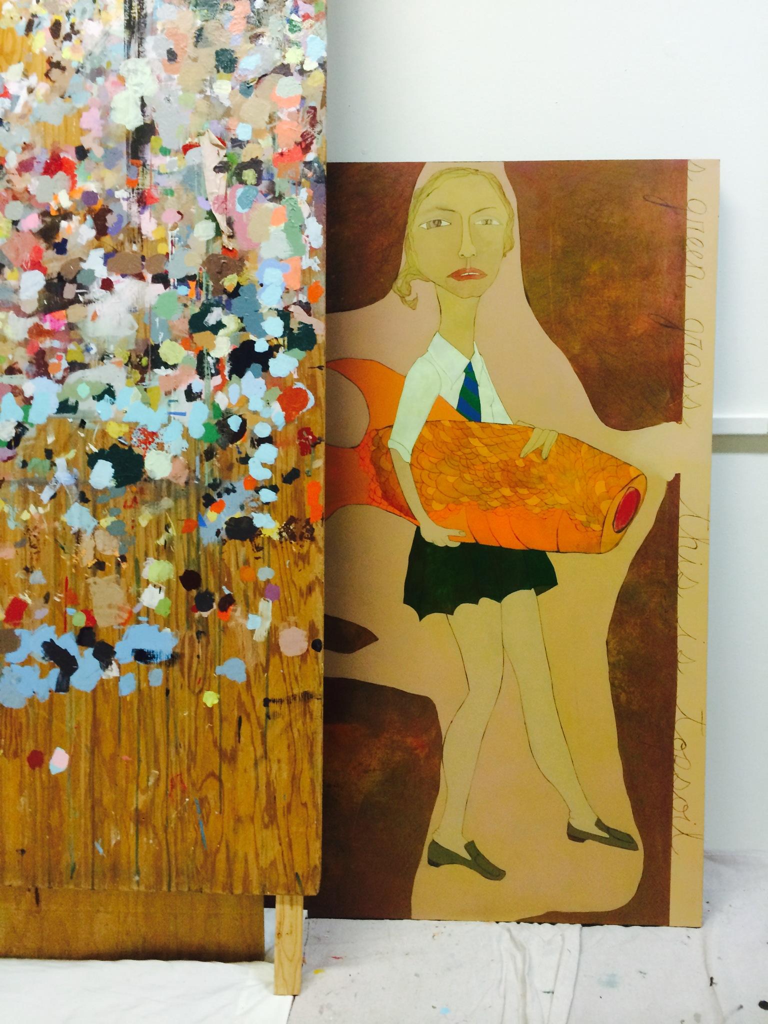 Catholic-School Girl and Goldfish .75 cents