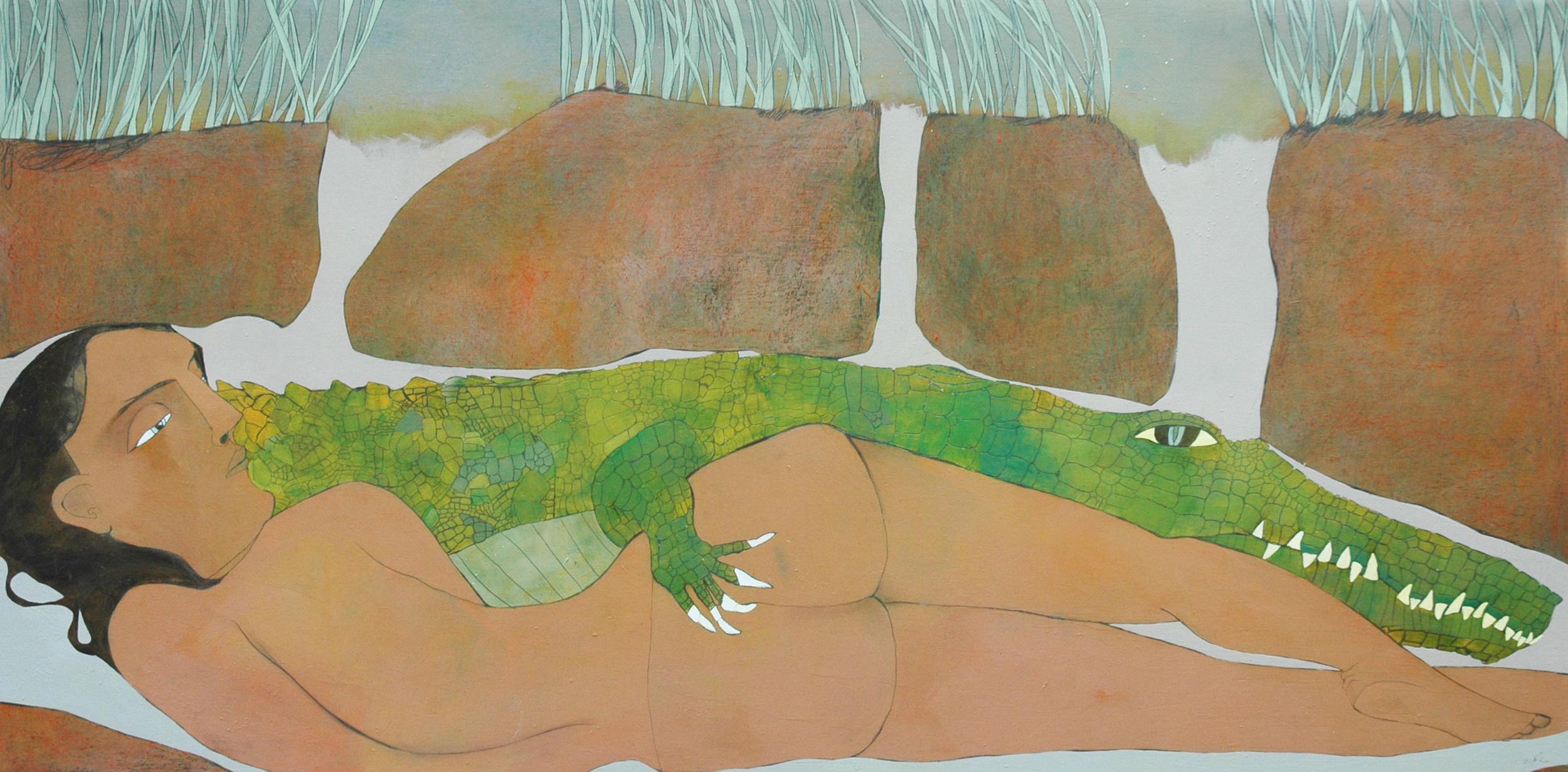 Skintrade. acrylic on panel 24x48