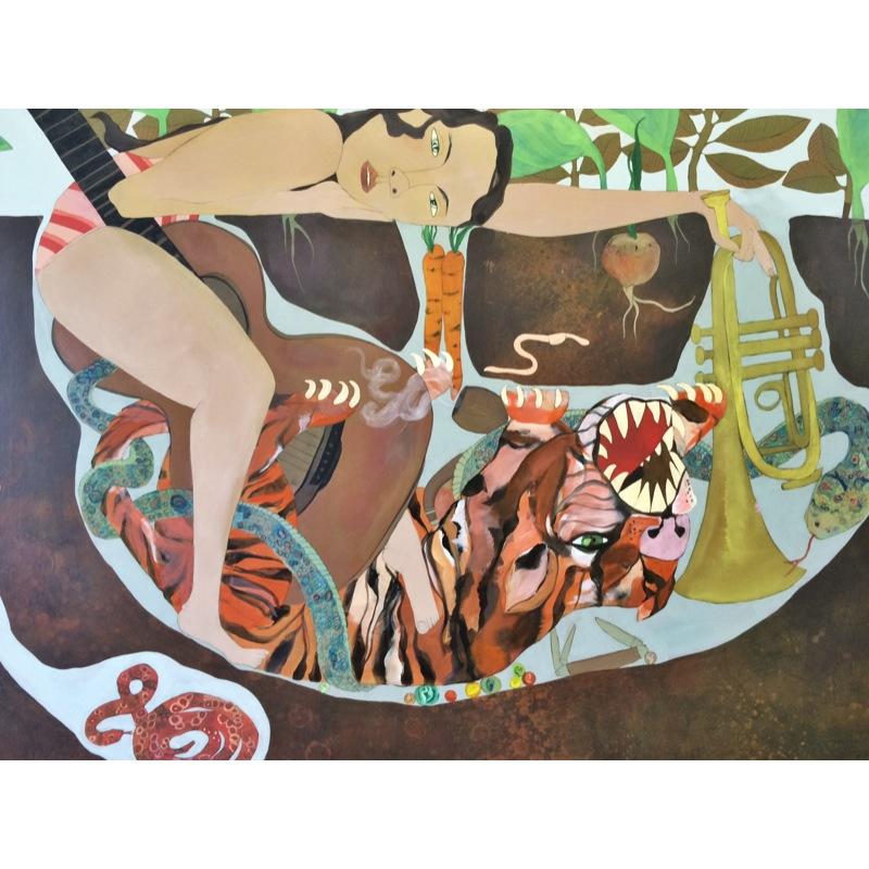 Tiger Trap 30x40 acrylic on canvas