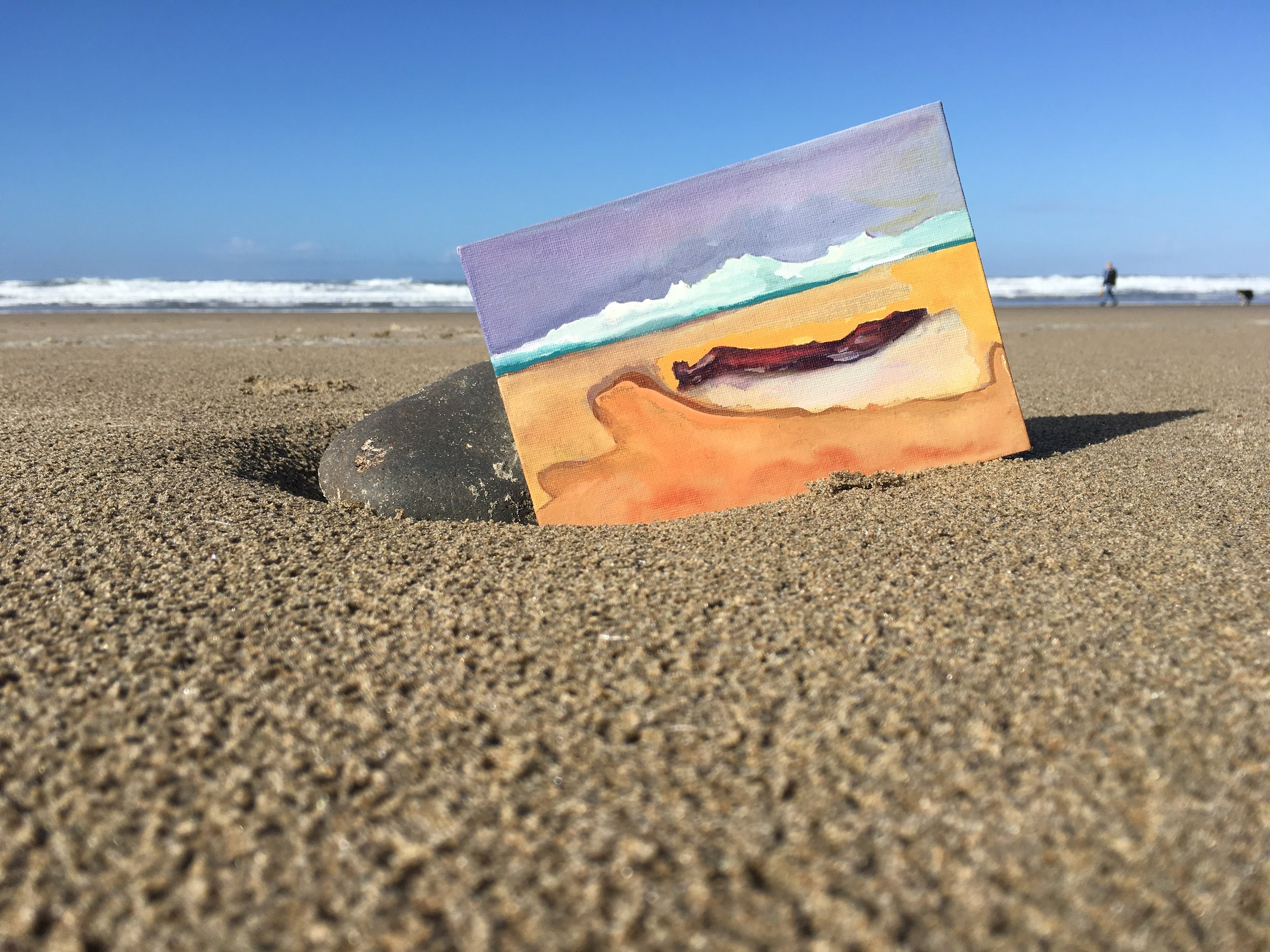 Bacon by the Sea 5x7 watercolor study