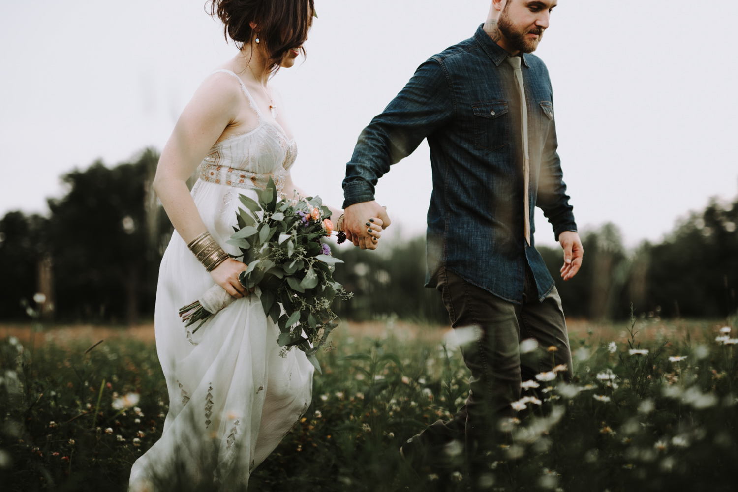 Midwest Bohemian and Free Spirit Elopement