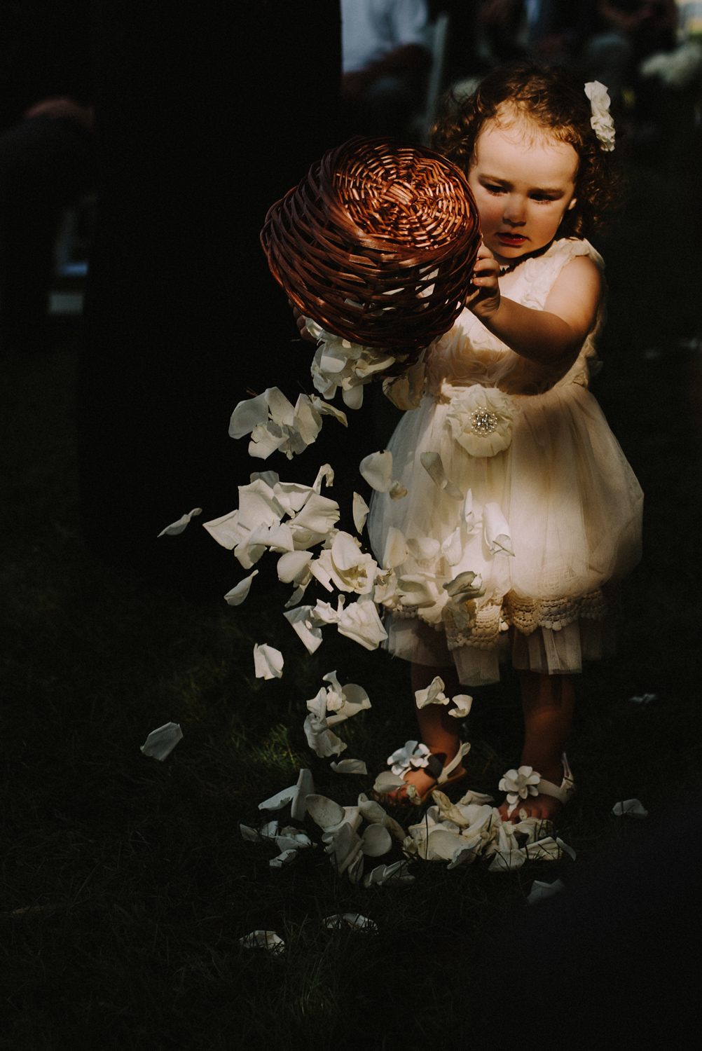 Cute Flower Girl Wedding Day