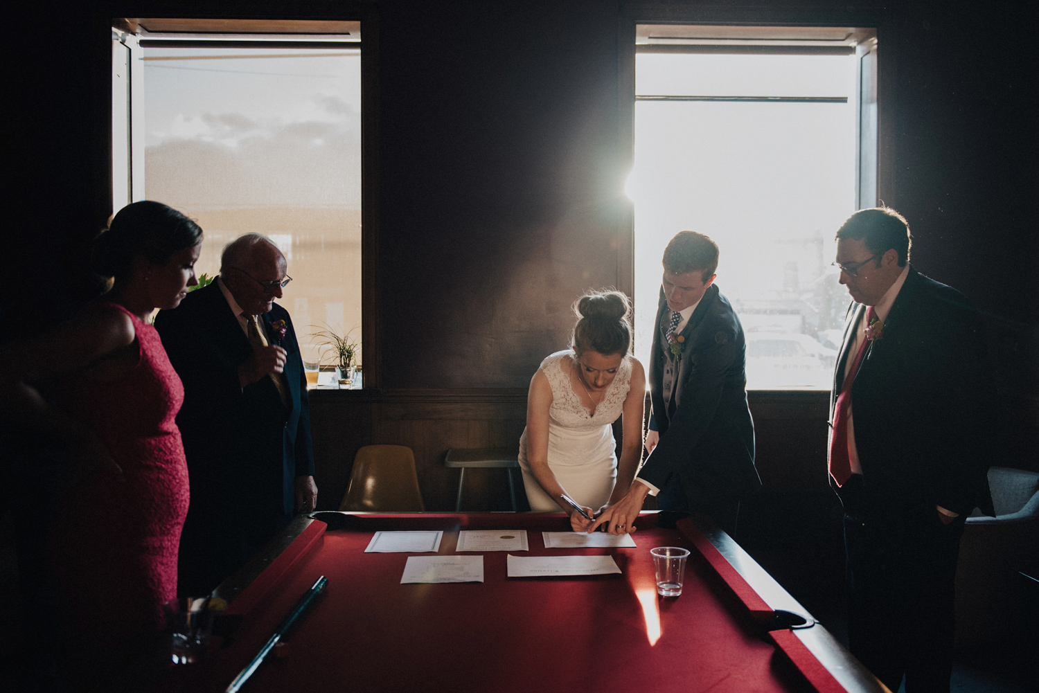 Signing the Marriage License | Ohio Wedding Photography | Strongwater Wedding