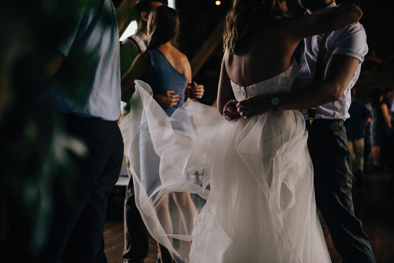 Bride and Groom Dancing | Rustic Indiana Barn Wedding Photography
