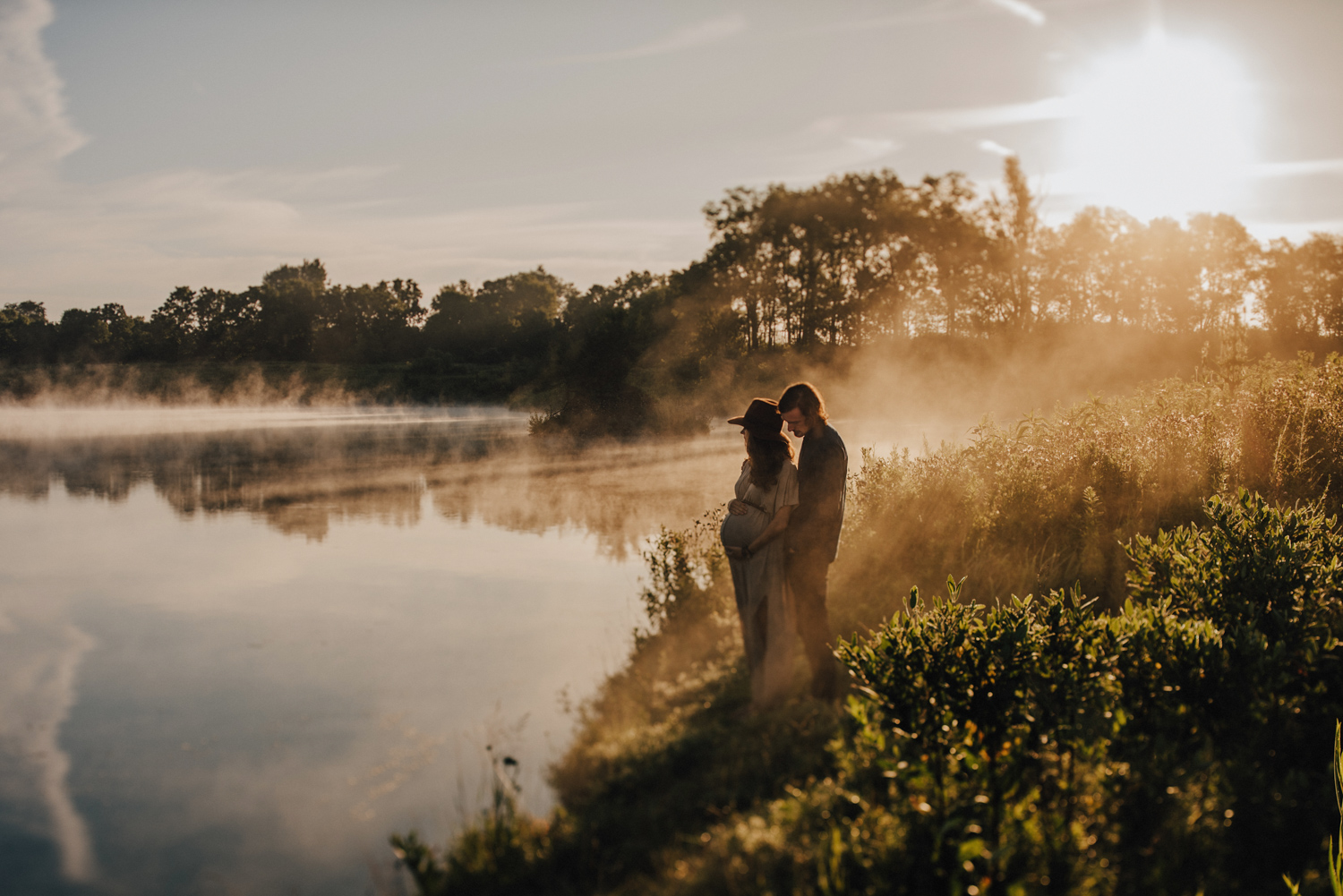 Bohemian Foggy Sunrise Maternity Photography