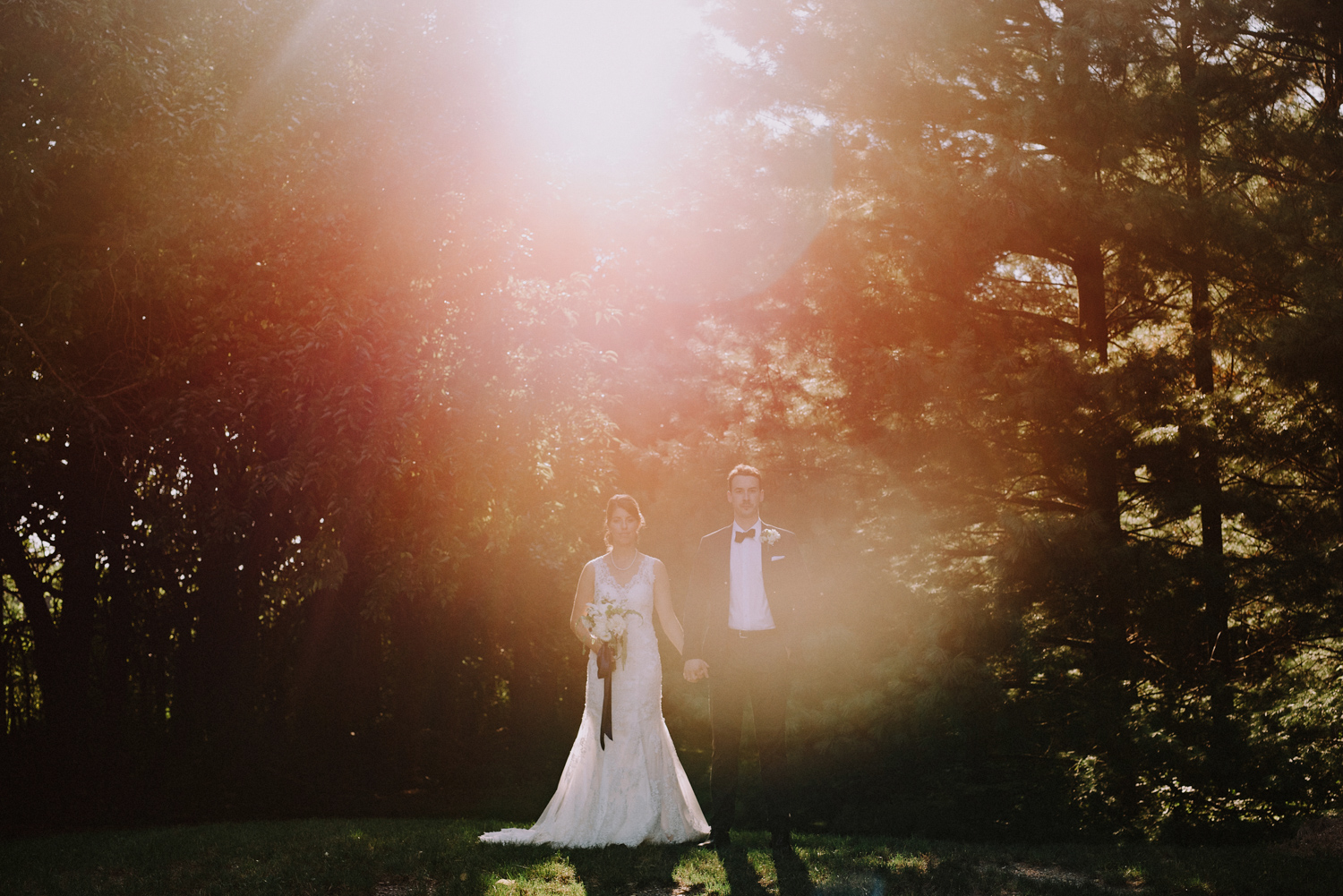 Sunset Backyard Wedding Photography