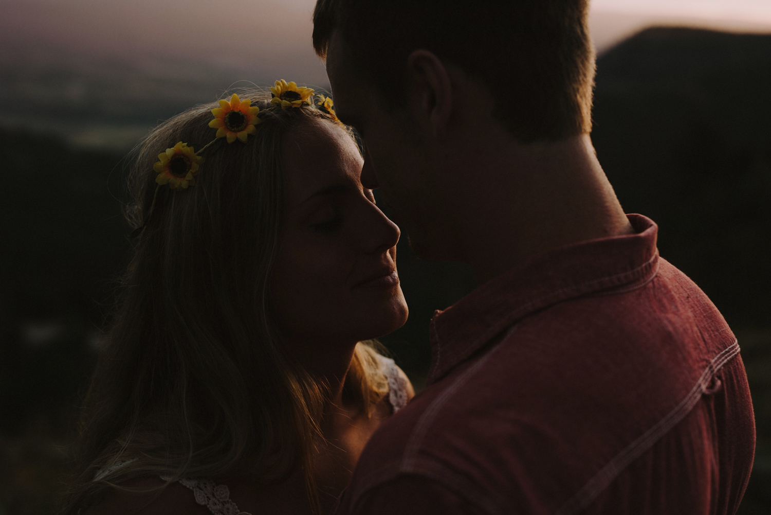 Intimate Sunset Colorado Rocky Mountain Engagement Photography