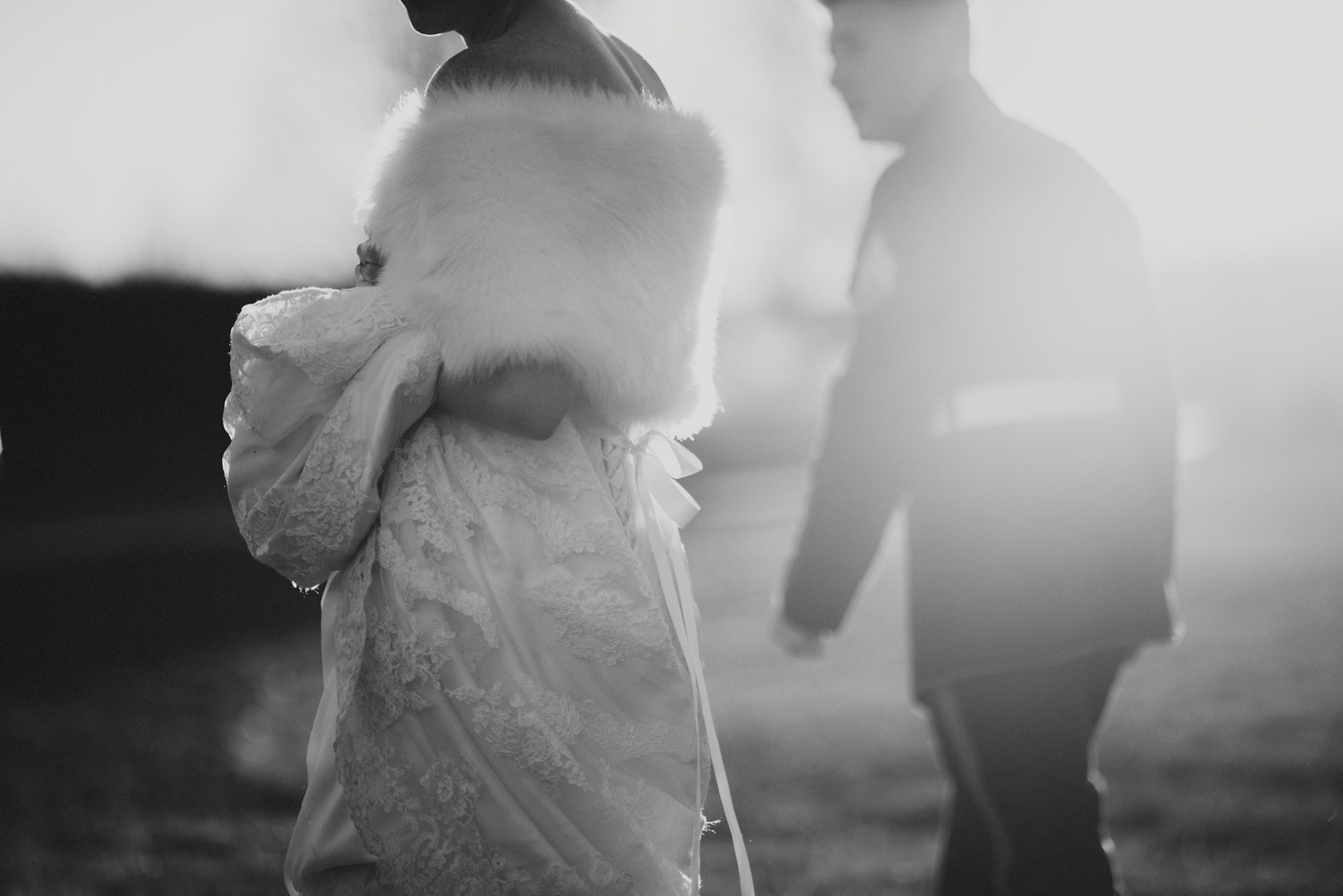 Winter Wedding Sunset | Midwest Wedding Photographers