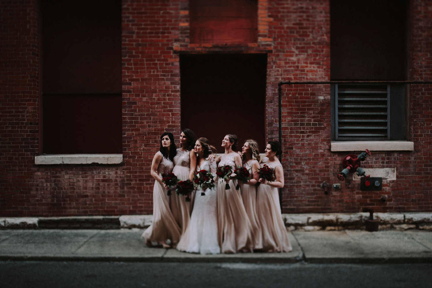 Downtown Bridesmaid Wedding Photography