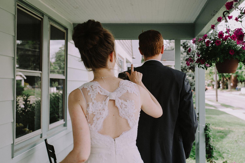 Wedding First Look - Columbus Ohio Wedding Photography