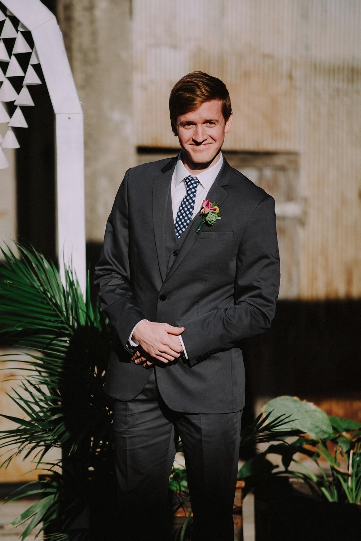 Groom Receiving Bride - Strongwater Wedding - Columbus Ohio Wedding Photography
