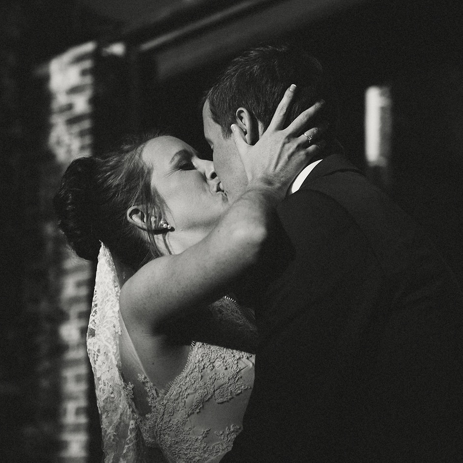 First Kiss - Strongwater Wedding - Columbus Ohio Wedding Photography