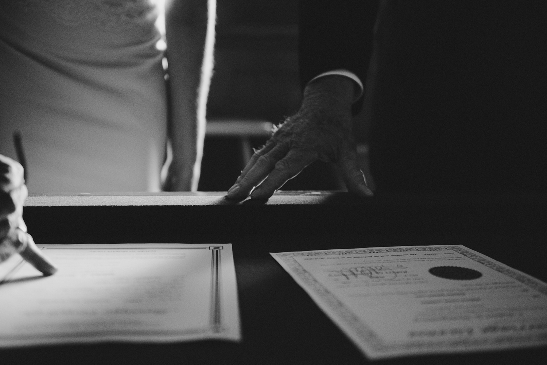 Signing Marriage License - Strongwater Wedding - Columbus Ohio Wedding Photography