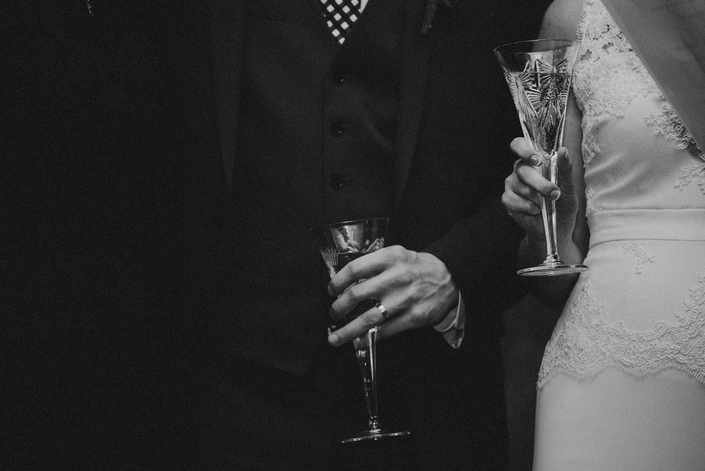 Toasts - BHDLN Wedding Dress - Strongwater Wedding - Columbus Ohio Wedding Photography
