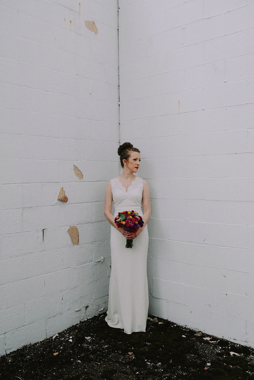 Bridal Portrait - BHLDN Wedding Dress - Columbus Ohio Wedding Photography