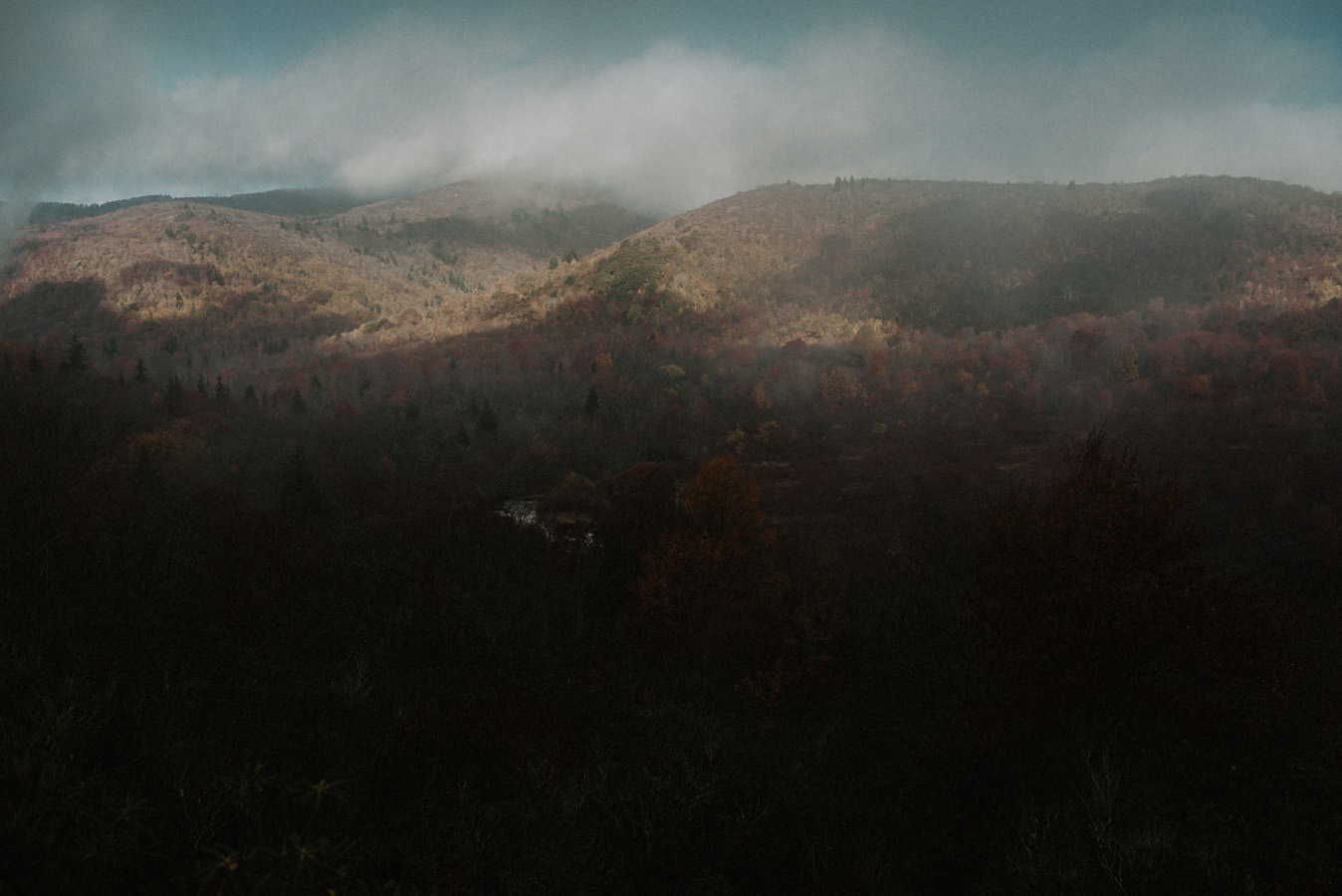 Sunrise Engagement Adventure Hiking Session in the Blue Ridge Smoky Mountains Forest.jpg