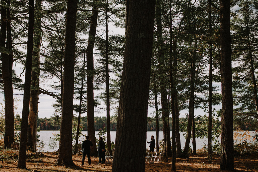 New England Fall Foliage Elopement in Maine