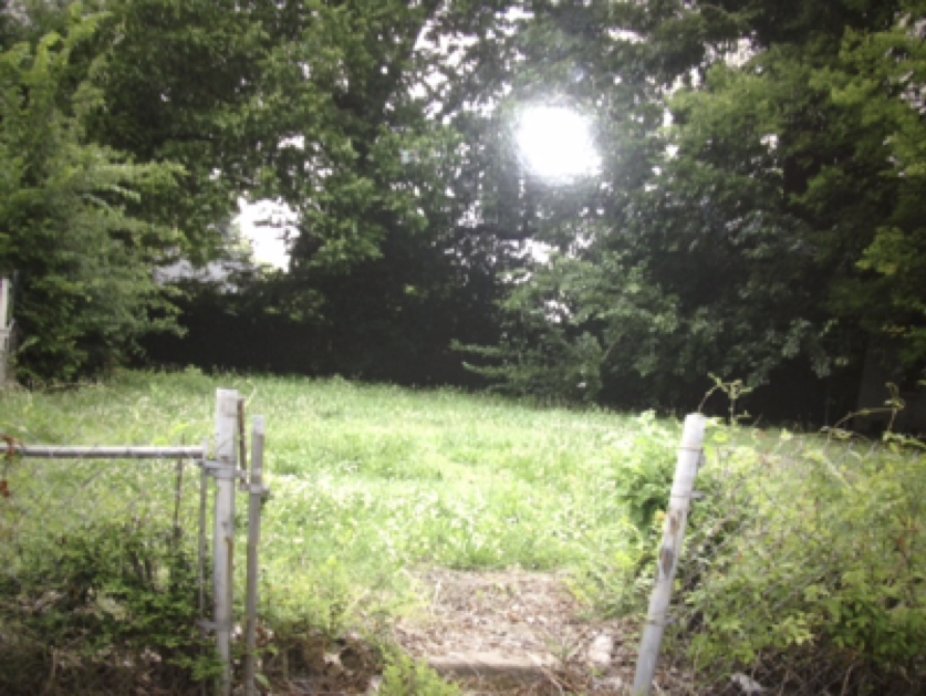 Before, an abandoned lot...