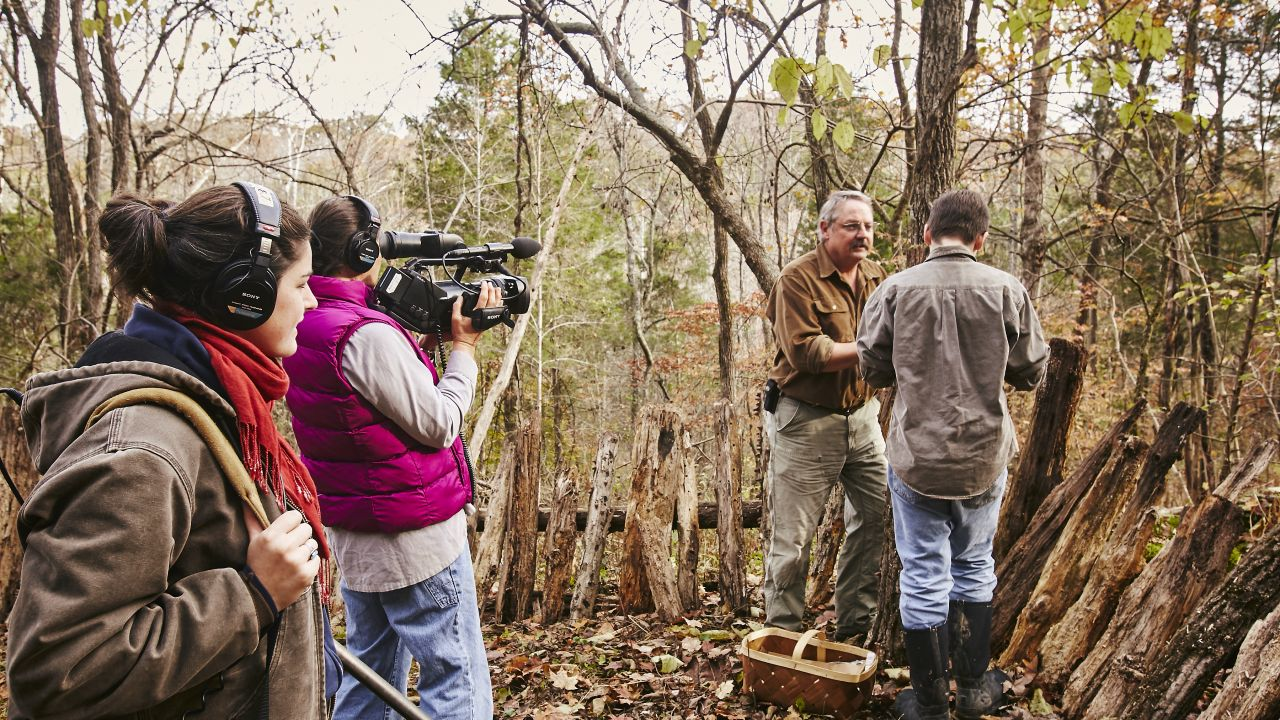 Appalshop program participants filming. (Photo by Shawn Poynter Photography)
