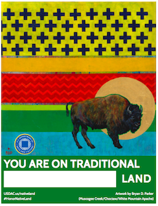 Bryan Parker's poster for #HonorNative Land