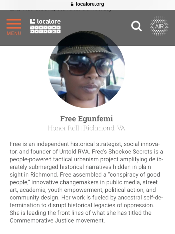 Free Egunfemi was named to the AIR Honor Roll for  Localore  programming about the work of Untold RVA.
