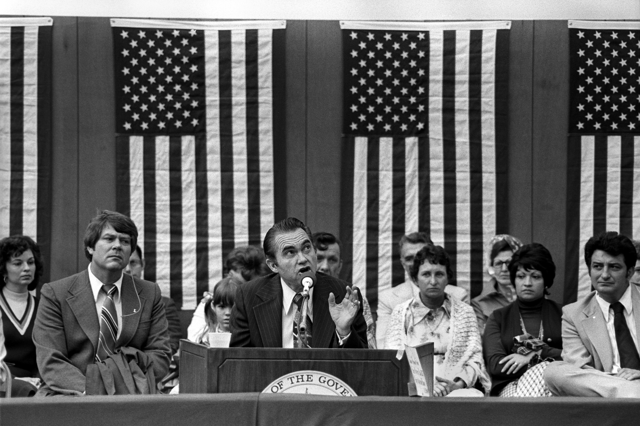 George Wallace campaigns for president in 1976