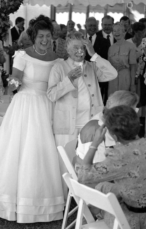 A wedding at Katharine Hepburn's