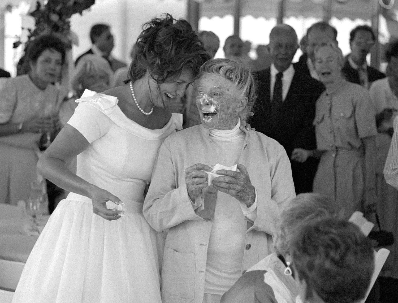 A wedding at Katharine Hepburn's house