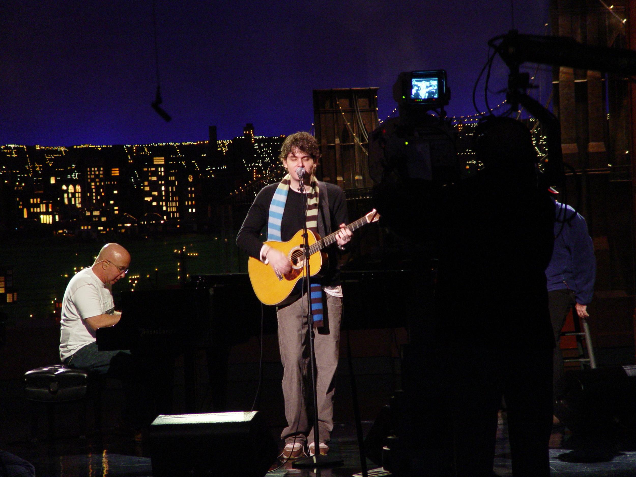 John Mayer and Paul Schaffer