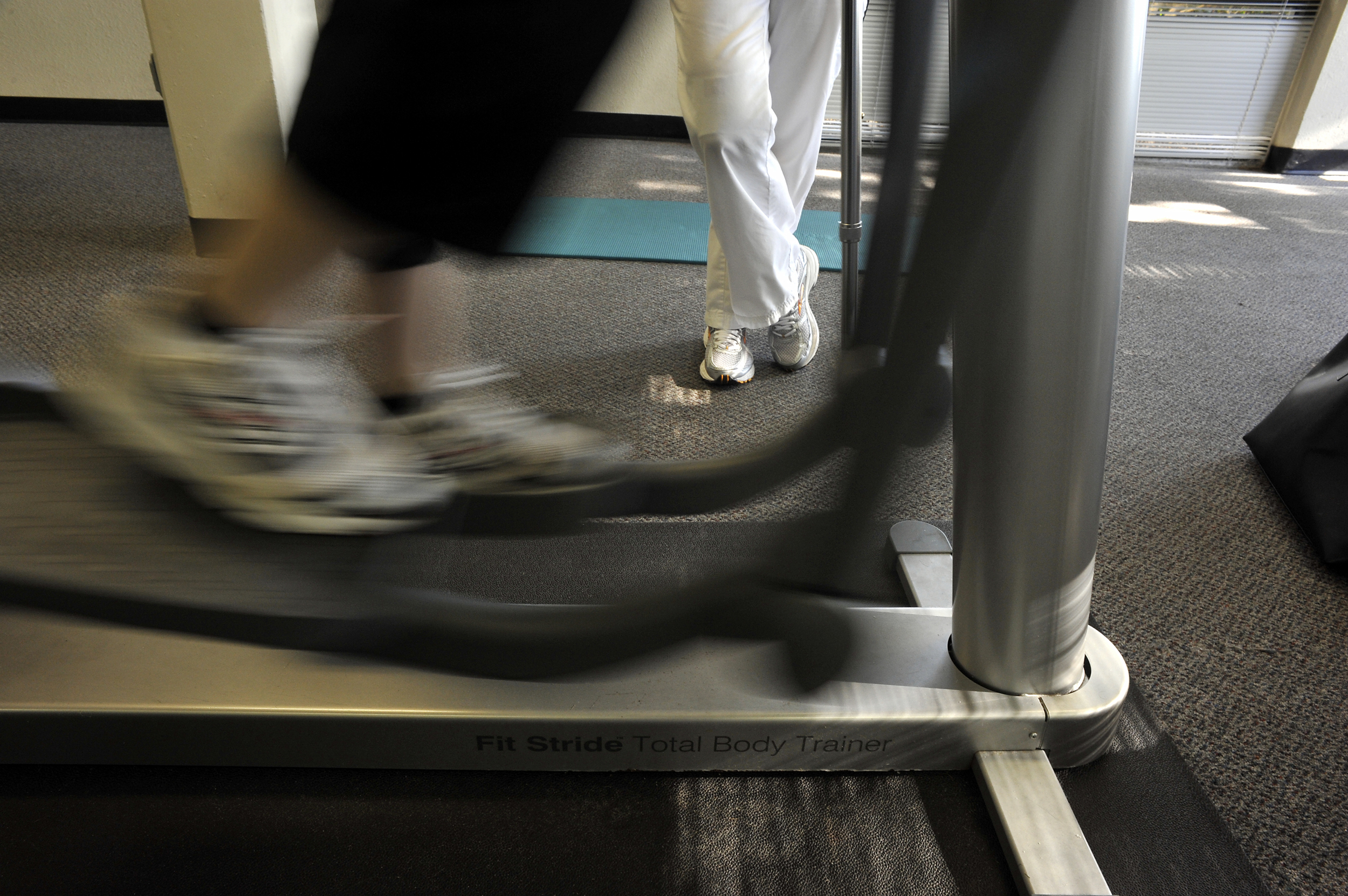 Physical therapy moves to a gym.