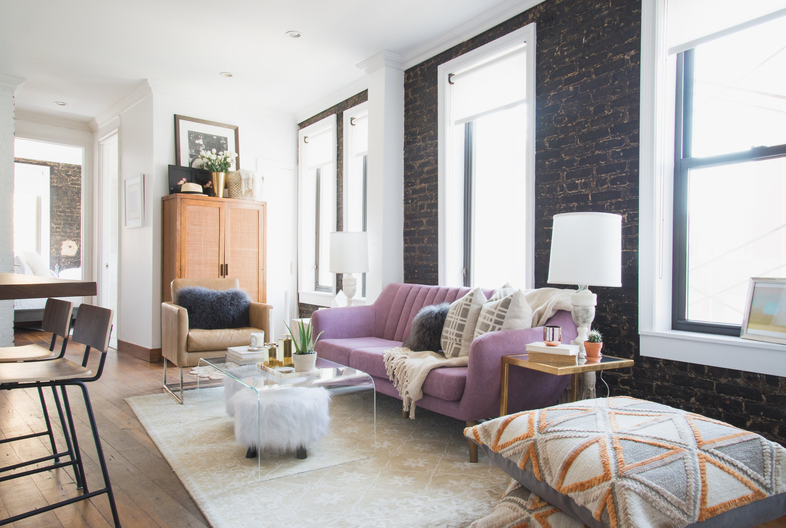 lo's downtown apartment -
