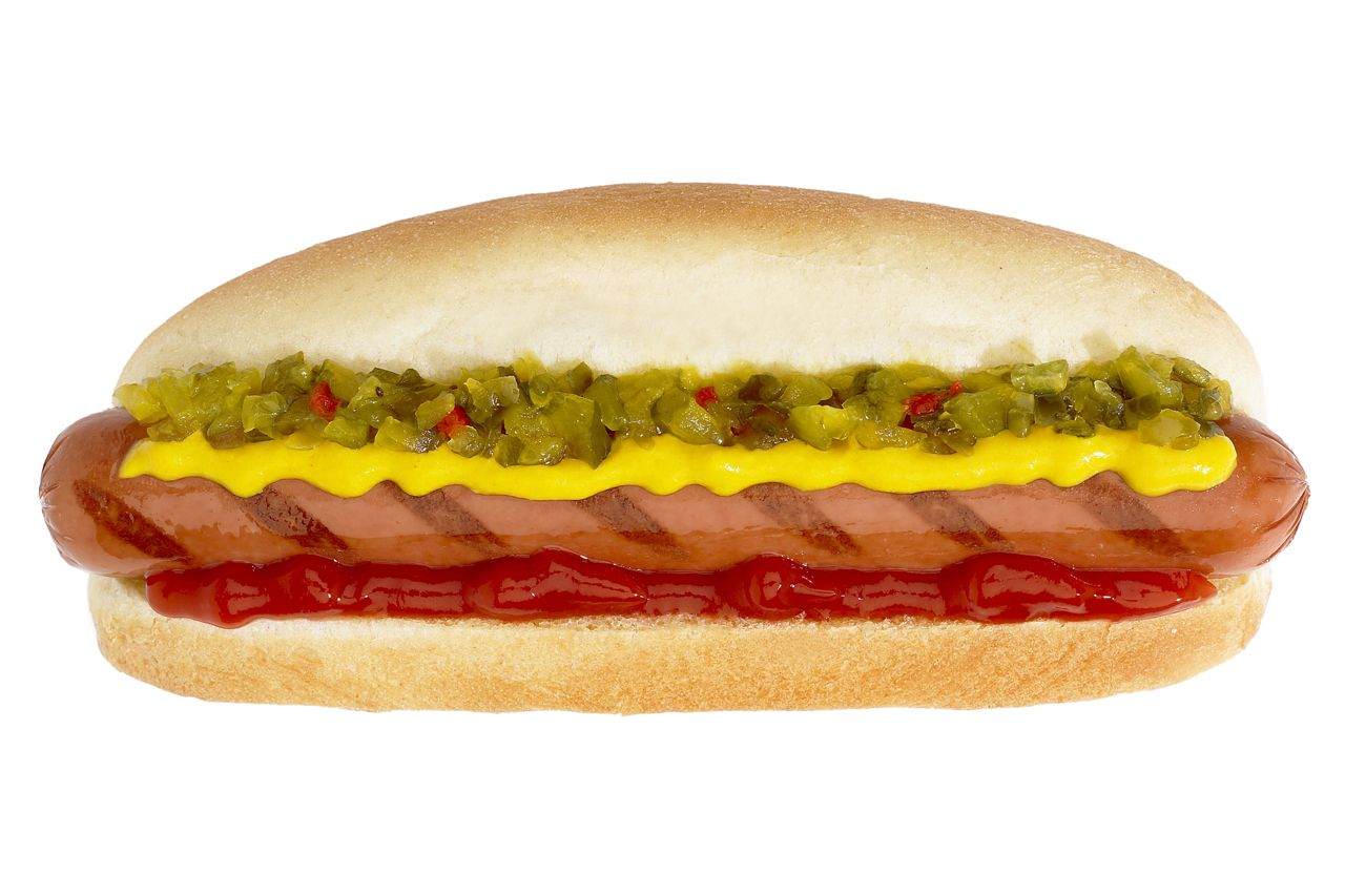Hot Dog with all garnishes