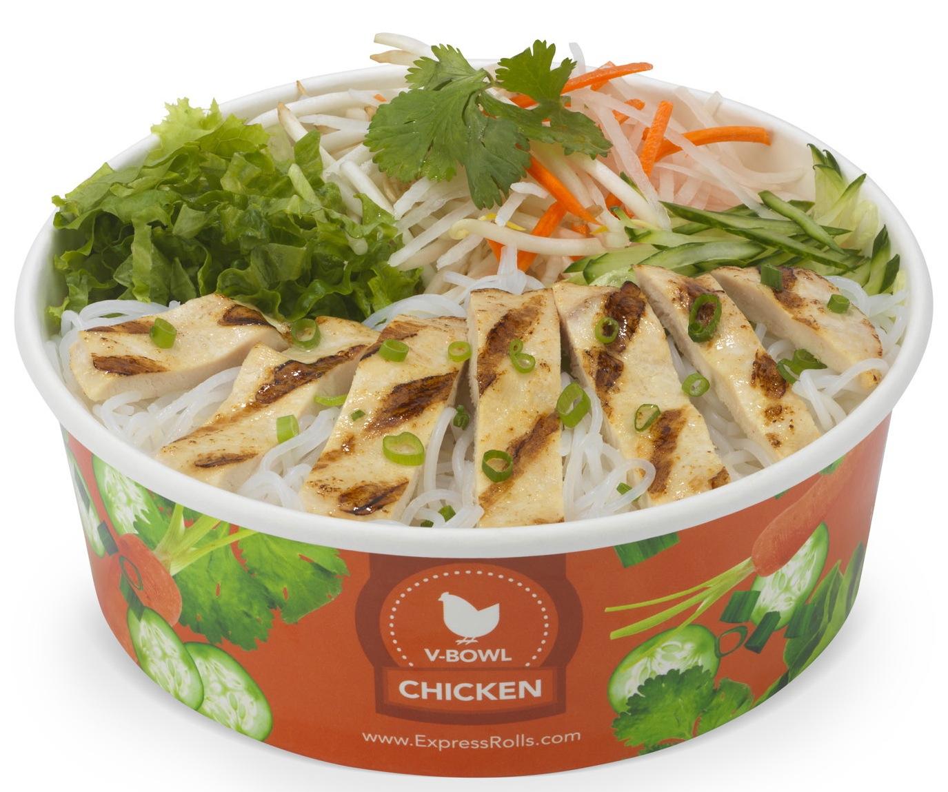 Lemon Chicken Vietnamese Salad Expressrolls.com