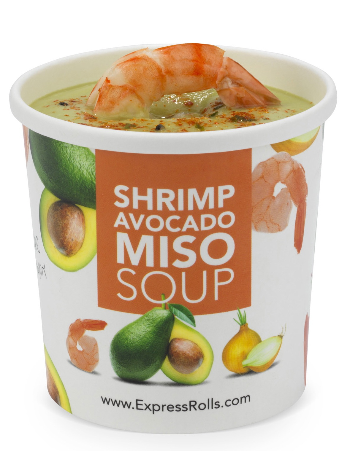 Shrimp Avocado Miso Soup ExpressRolls.com